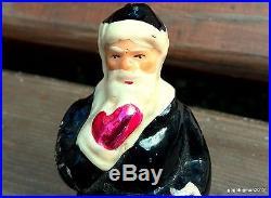 Old Vintage Christmas Tree Decoration Toy Glass Santa Claus Russian UNIQUE