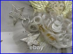 Old Vintage Die Cut Spun Angel Tree Topper Christmas Holiday Decoration