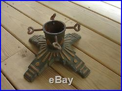 Old Vtg Art Deco Decorative Design Holiday Christmas Tree Stand Made In Germany