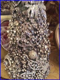 Ooak Rhinestone 11 Tree Vtg Rhinestones Christmas Tree jeweled hand made xmas