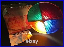 Penetray Motorized Color Wheel Vintage Christmas Tree Color Wheel w Original Box
