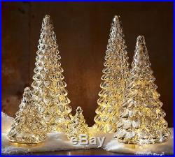 Pottery Barn Christmas Vintage LIT MERCURY GLASS TREE MEDIUM