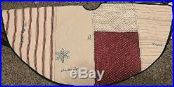 Pottery Barn nostalgic Patchwork quilt Christmas tree skirt NWT vintage