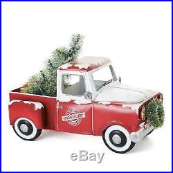 Pre-Lit Battery-Operated LED Holiday Christmas Tree Vintage Metal Truck