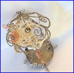 Premier Vintage bird in a golden cage Christmas Tree decoration Ornaments Gift