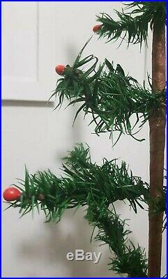 RARE ANTIQUE VINTAGE 1900 -1930's GOOSE FEATHER CHRISTMAS / XMAS TREE 27 / 68cm