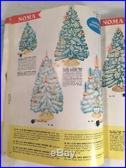 RARE VTG 1960 NOMA LITES Christmas Light Decorations Catalog Bubble Tree Bulb
