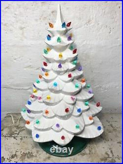 RARE Vintage 1960s Mid Century Modern Arnels White Ceramic Christmas Tree 19