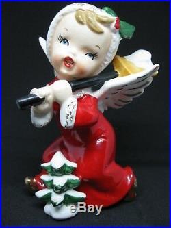 RARE Vintage A Fine Quality Christmas Angel Snow Shovel Shoveling Tree