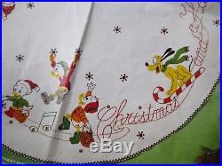 RARE vtg paragon disney christmas parade tree skirt felt applique kit #6278 45
