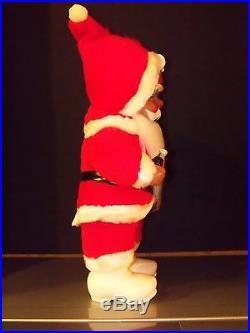 Rushton African American Black Santa Coca Cola Vintage Doll Christmas Tree New