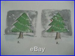 Rae Dunn Vintage Magenta Exclusive Christmas Tree Tray 2013 Tray Rare Htf