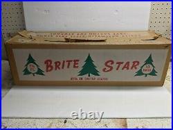 Rare Brite Star brand Vintage Aluminum Silver Christmas Tree 6 1/2 93 branches