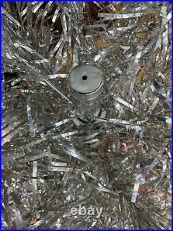 Rare Circa 1960 Mirro 4 1/2 Aluminum 55 Branch Christmas Tree with 25 Vtg Skirt