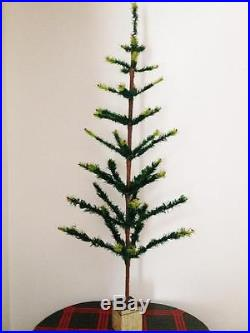 Rare Genuine Antique Vintage Goose Feather Christmas Tree 4 Feet (47 Inches)