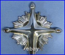 Rare HTF Vintage Gorham Sterling Silver Starburst Cross #440 Tree Topper EXC