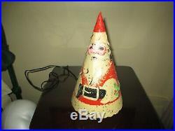 Rare Vintage 1952 Econolite Santa Christmas Motion Lamp Nice Retro Tree Lamp