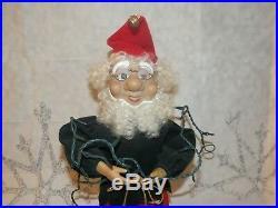 Rare Vintage 1988 Telco Motionettes Animated Christmas Tree Trimming Elf Mib