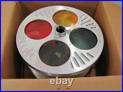 Rare! Vintage Evergleam Tri-lite Revolving Light Stand For Aluminum Tree Works