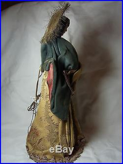 Rare Vintage German Nuremberg Wax Tree Topper Virgin Mary with Cild #BR