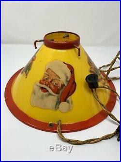 Rare Vintage Illuminated 50s Noma Christmas Tree Stand Santa & Bells Mid Century