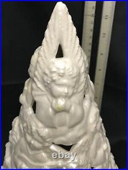 Rare Vintage MCM Angels Orchestra White Ceramic Christmas Tree 14