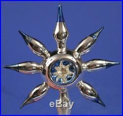 Rare Vintage Mercury Glass 7 Point STAR Christmas Tree Topper Germany