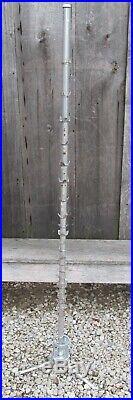 Rare Vintage Mid Century 7' OUTDOOR Silver Aluminum 73 Branch Christmas Tree