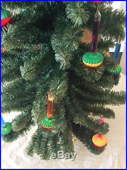 Rare Vintage Retro MID Century Noma Christmas C6 Visca Bubble Lights Lites Tree