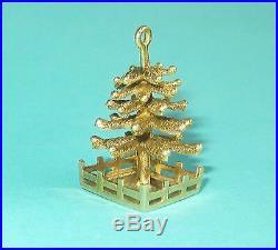 Rare Vintage TIFFANY & Co. 14K Gold CHRISTMAS TREE Pendant Charm