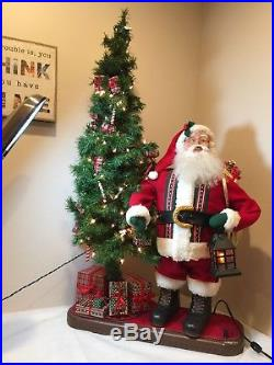 Rare Vtg. Large Holiday Creations Animated Musical Santa By The 48ChristmasTree