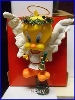 Rare vintage 1992 WARNER BROS TWEETY BIRD CHRISTMAS TREE TOPPER 11.5