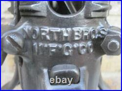Restored Vintage Antique North Bros Adjustable Cast Iron Christmas Tree Stand 3