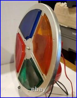 Retro Vintage Rotating Color Wheel For Silver Aluminum Christmas Tree