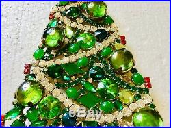 Rhinestone Christmas Tree Stand Czech Vintage Estate Jewellery Antique Bohemian