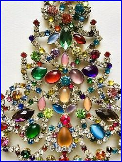 Rhinestone Xmas Tree Stand Vintage Estate Jewellery Antique Jewelry Juliana