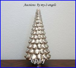 S/4 Pottery Barn Christmas LARGE MED SML MINI MERCURY GLASS TREE CLOCHES vintage
