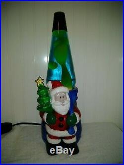 Santa Lava Lamp Vintage Ceramic Christmas Decor Tree Great Flow, Beautiful Light