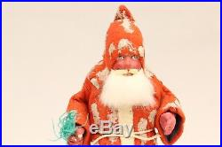 Santa with Feather Tree 1930's Vintage Christmas Saint Nicolas Candy Container