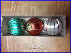 Satin Christmas Tree Ornaments Vintage HANDCRAFTED