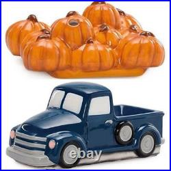 Scentsy Warmer BLUE TRUCK PUMPKIN Delivery 1950 Chevy Lights up Retro Collection