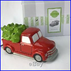Scentsy Warmer SPECIAL DELIVERY RED Retro TRUCK with TREE Retired