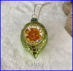 Set 6 Vintage Retro Glass Shatterproof Baubles Christmas Tree Decorations Gift