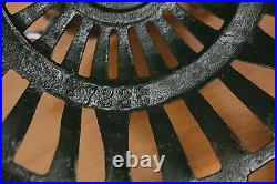 Set of 3 Antique Christmas Feather Tree Stands German Iron Cast Vintage #1