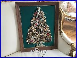 Shabby Vtg Antique Christmas Tree Rhinestone Jewelry oOAK Handmade