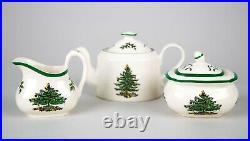 Spode Christmas Tree Green Trim Child's Miniature Tea Set Vintage