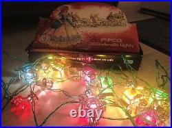 Stunning Rare Vintage Pifco Cinderella Christmas Tree Lights 20