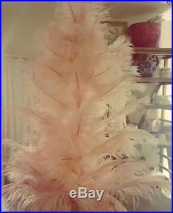 Stunning original 1920's style pink vintage ostrich feather Christmas tree