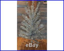 Super Bushy Vintage Noma Silver Vinyl 48 Aluminum Christmas Tree in Box