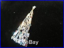 Swarovski Authentic Swan Signed Vintage Christmas Tree Pin